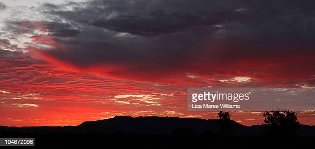 A sunrise as seen during a visit to Parachilna in the South Australian Outback on October 3 2010 in the Flinders Ranges Australia Rene Redzepi the...