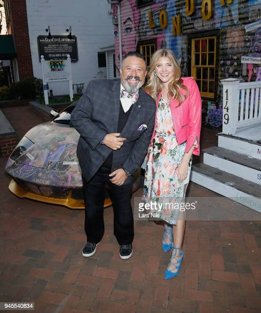 Sunrise Association board member David Miller and blogger Katie Sands attend the Sold Out Art Auction To Benefit Camp For Children With Cancer on...