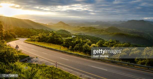 sunrise at a mountain pass in south africa - mpumalanga province stock pictures, royalty-free photos & images