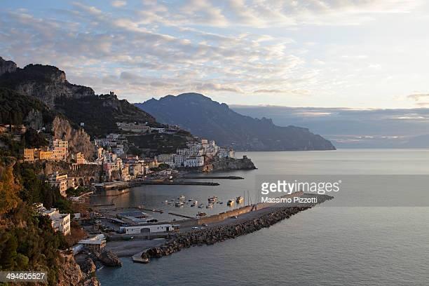 sunrise at amalfi - massimo pizzotti foto e immagini stock