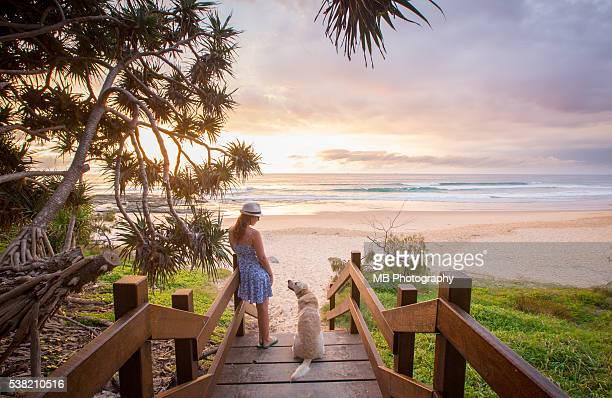 sunrise at australian beach - sunshine coast australia stock pictures, royalty-free photos & images