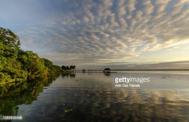 Sunrise at Bacalar Lagoon