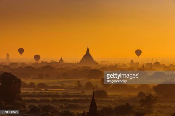 sunrise at bagan myanmar