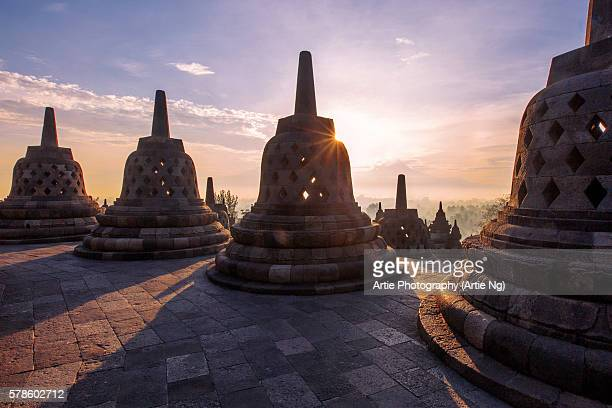 Sunrise at Borobudur, Magelang, Central Java, Indonesia