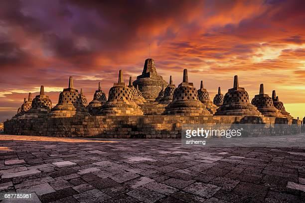 Sunrise at Borobudur, Magelang, Central Java, Indonesia
