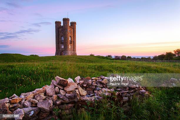 Sunrise at Broadway Tower, Cotswolds, Worcestershire, England