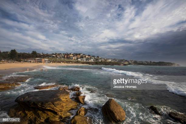 Sunrise at Bronte Beach on yet another hot and steamy day on December 16 2017 in Sydney Australia Sydney has been sweltering though its first...