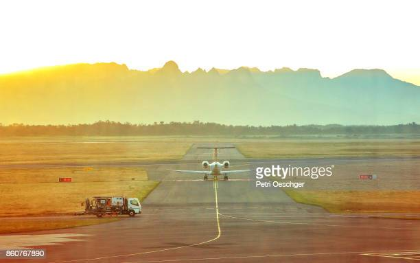 Sunrise at Cape Town International Airport.