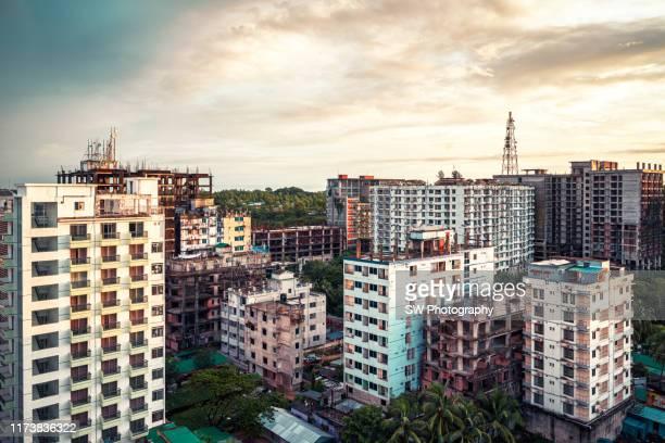 sunrise at cox's bazar city, bangladesh - cox's bazaar stock pictures, royalty-free photos & images