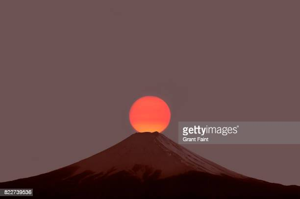 Sunrise at famous Mount Fuji.
