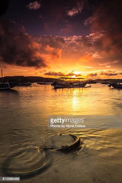 Sunrise at Gerupuk Beach,Lombok