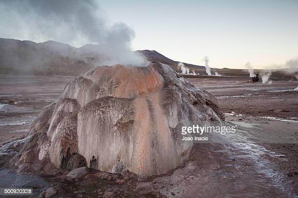Sunrise at Geyser del Tatio, Atacama, Chile