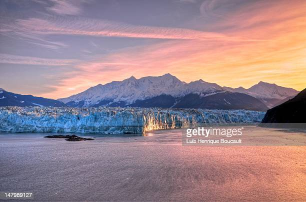 Sunrise at Hubbard Glacier