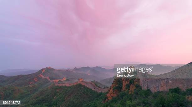 sunrise at jinshanling great wall