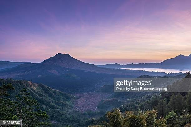 Sunrise at Kintamani(From left - Mt. Batu, Mt. Aba