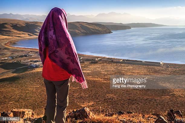 Sunrise at Lake Manasarovar, Ngari, Tibet