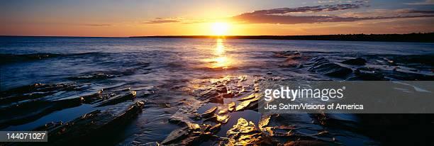 Sunrise at Lake Superior, Porcupine Mountain State Park, Upper Peninsula, Michigan