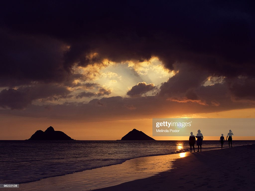 Sunrise At Lanikai Beach High Res Stock Photo Getty Images