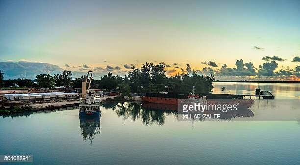 Sunrise at Manus Island dock