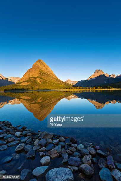Sunrise at Many Glacier in Glacier National Park, Washington, USA