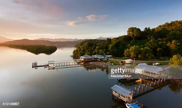 Sunrise at Mengkabong River, Borneo