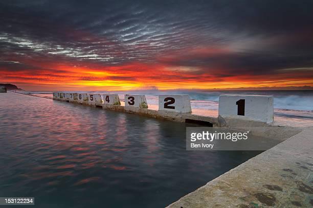 Sunrise at Merewether ocen