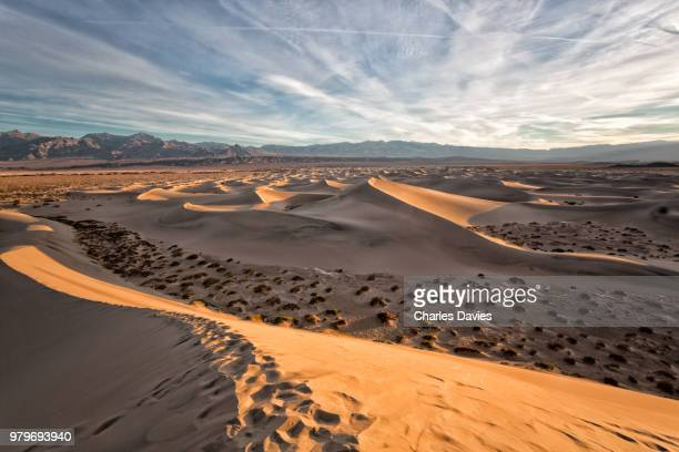 Sunrise at Mesquite Flat Sand Dunes in Death Valley, California, USA
