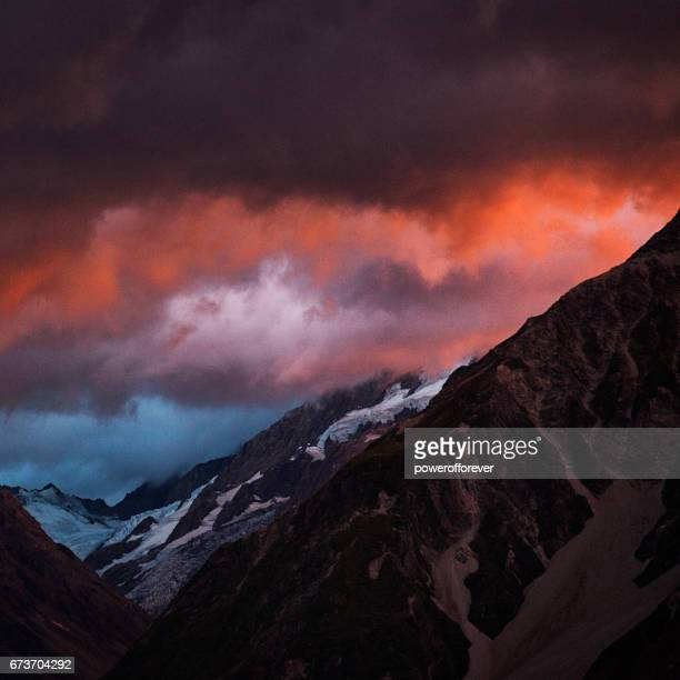 Sunrise at Mount Cook in the Southern Alps of New Zealand
