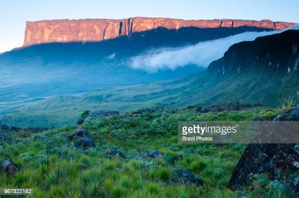 Sunrise at Mount Kukenan or Mount Cuquenan, Venezuela.