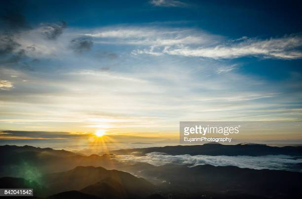 sunrise at mount norikura - takayama city stock pictures, royalty-free photos & images