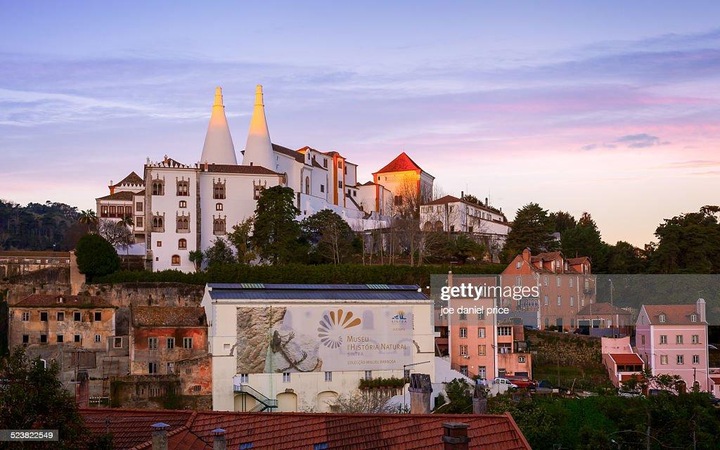 Sunrise at National Palace, Sintra, Lisbon, Portug : Stock Photo
