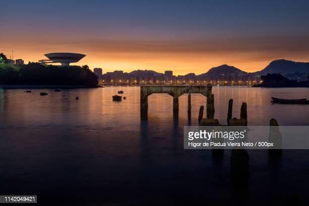 sunrise at niteroi, brazil - niteroi stock pictures, royalty-free photos & images
