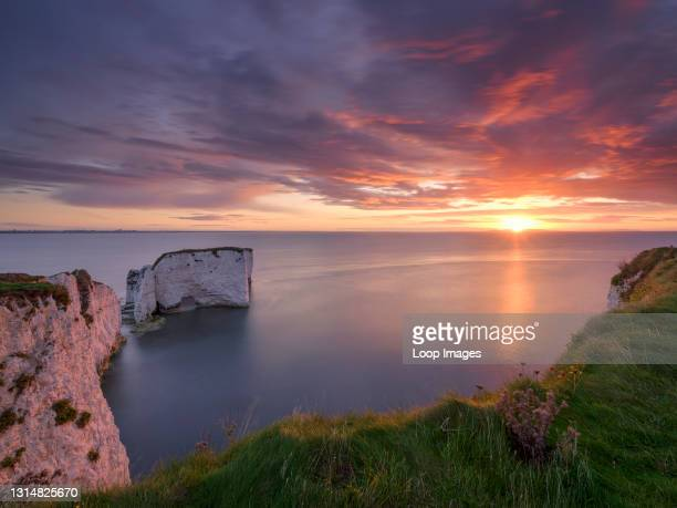 Sunrise at Old Harry Rocks.