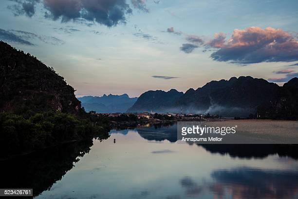 sunrise at phong nha-ke bang national park - phong nha kẻ bàng national park stock photos and pictures