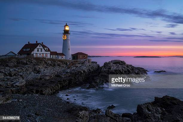 Sunrise at Portland Head Light in Cape Elizabeth, Maine