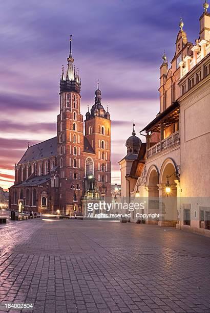 Sunrise at Rynek Glówny.Kraków