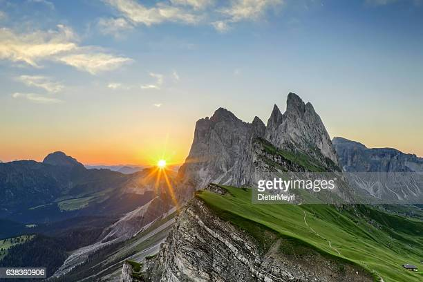 Sunrise at Seceda in south Tirol