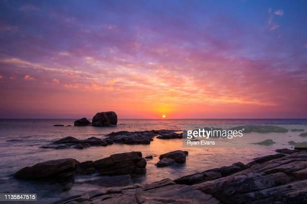 Sunrise at Shag Rock, Meelup Beach, Western Australia.