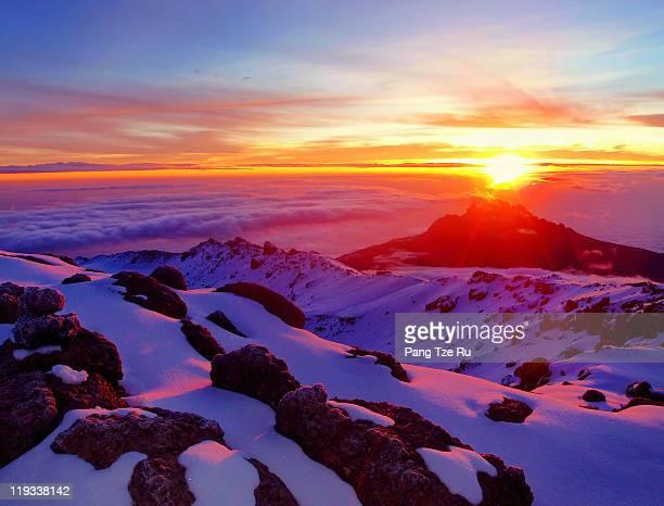 Sunrise at Summit of Kilimanjaro