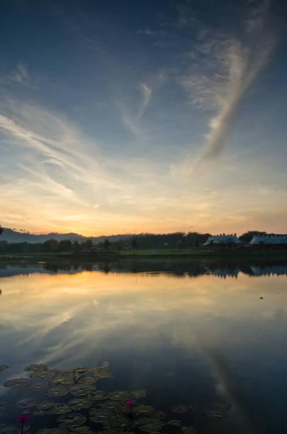 sunrise at tasik darul aman kedah