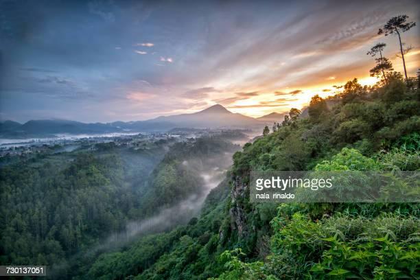 sunrise at terbing keraton, north bandung, west java, indonesia - bandung stock pictures, royalty-free photos & images