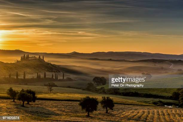 Sunrise at the Belvedere Farmhouse, Tuscany