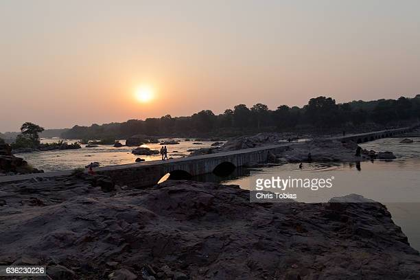Sunrise at the Betwa River Bridge, Orchha, India