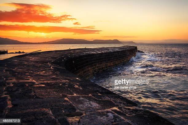 Sunrise at The Cobb, Lyme Regis, Dorset, England