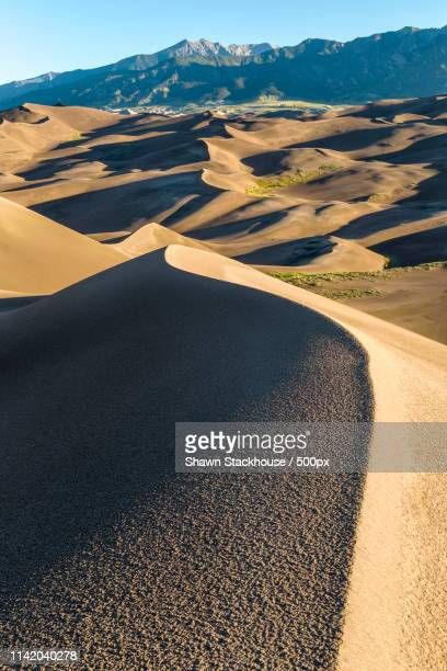 sunrise at the dunes - great sand dunes national park stock pictures, royalty-free photos & images
