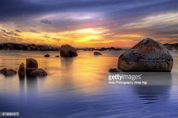 sunrise at the greens pool, william bay national park, western australia - denmark stock pictures, royalty-free photos & images