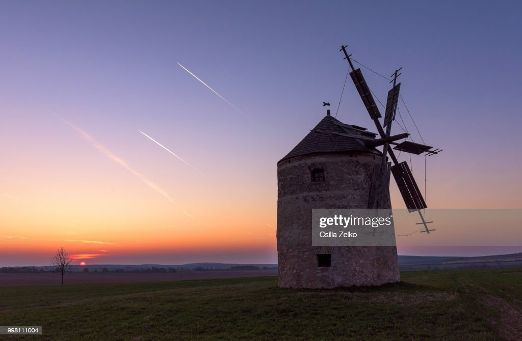 Sunrise at the Old Mill : Stock Photo