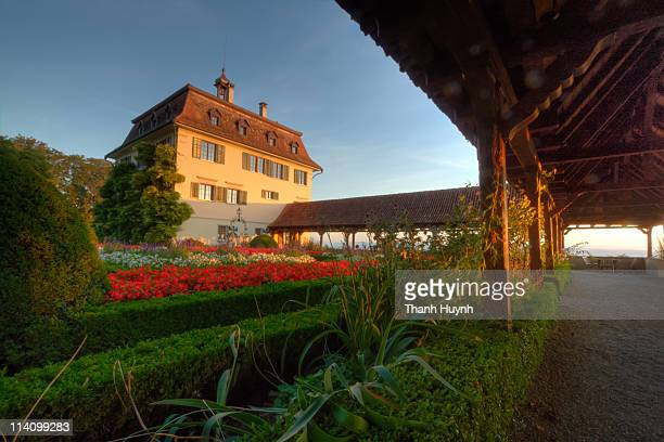 Sunrise at the rear of Wolfsberg, Switzerland. This is home to the 'UBS University', for training and conferences.