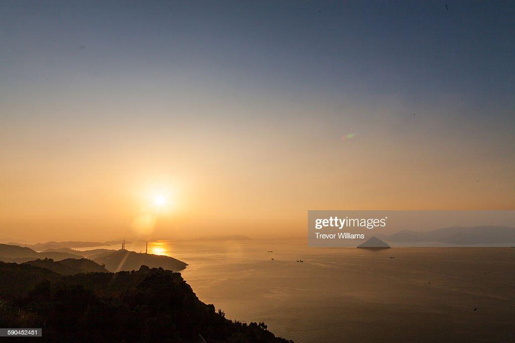 Sunrise at the Setouchi Sea in Okayama, Japan : Stock Photo