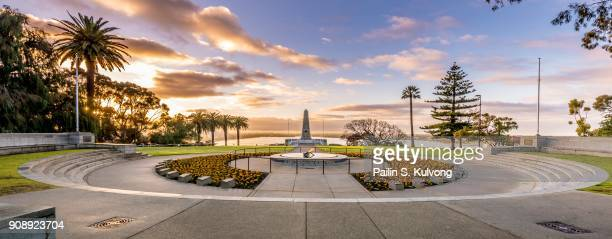 sunrise at the state war memorial, perth, western australia, australia - war memorial stock pictures, royalty-free photos & images